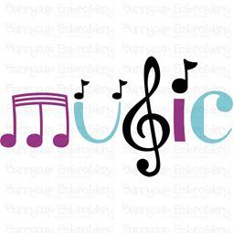 Music Word Art SVG