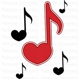 Heart Music Notes SVG