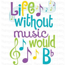 Life Without Music Would B Flat SVG