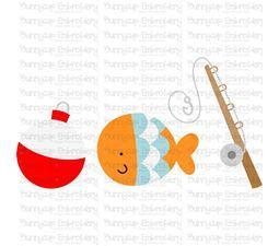 Float Fish Fishing Rod Trio  SVG