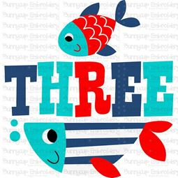 Three Fish SVG