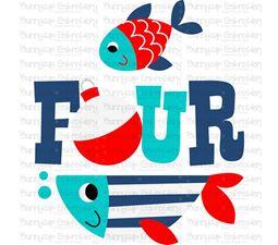 Four Fish SVG