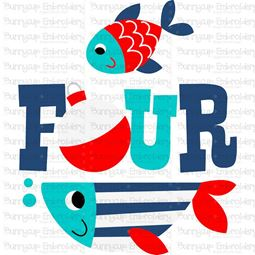 Four Fish SVG