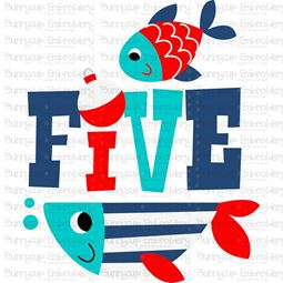 Five Fish SVG