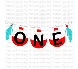 One On Fishing Line SVG