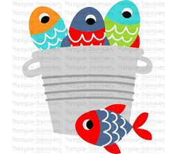 Bucket of Fish SVG