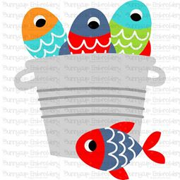 Bucket of Fish SVG