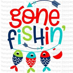 Gone Fishing SVG