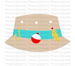 Boys Fishing Bucket Hat SVG