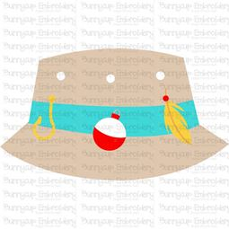 Boys Fishing Bucket Hat SVG