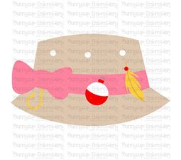 Girls Fishing Bucket Hat SVG