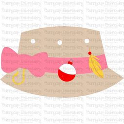 Girls Fishing Bucket Hat SVG