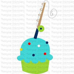 Boys Fishing Cupcake SVG