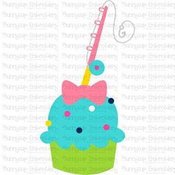 Girls Fishing Cupcake SVG