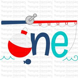 One Fishing Rod  SVG