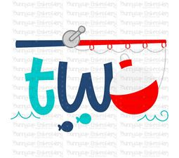 Two Fishing Rod  SVG