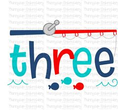 Three Fishing Rod  SVG