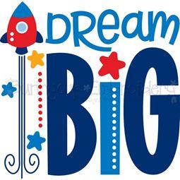 Dream Big SVG