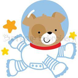 Astronaut Dog SVG