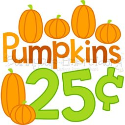 Pumpkins 25c SVG