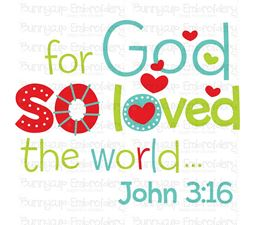 So God So Love The World SVG