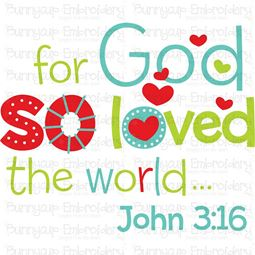 So God So Loved The World SVG