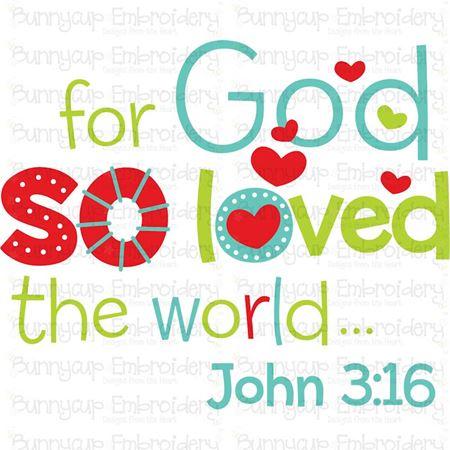 So God So Love The World SVG