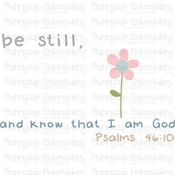 Be Still And Know That I Am God SVG