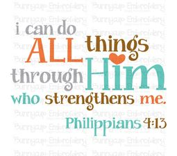 I Can Do All Things Through Him SVG
