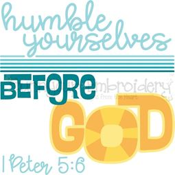 1 Peter 5 Humble Yourselves Before God SVG