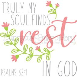 Psalms 62 1 Find Rest In God SVG