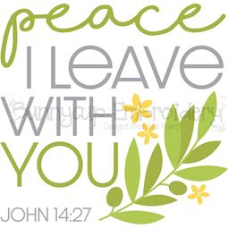 John 14 27 Peace I Leave With You SVG