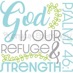 Psalms 46 1 God Is Your Refuge SVG