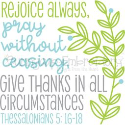 Thessalonians 5 16 Rejoice Always SVG