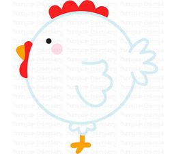 Round Rooster SVG