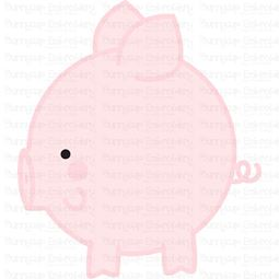 Round Pig SVG