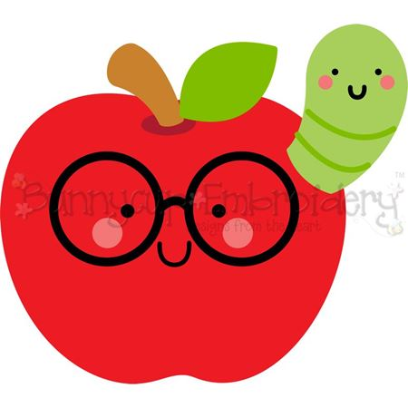 Glasses Apple And Caterpillar SVG
