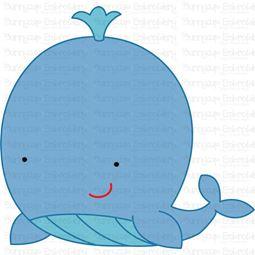 Cute Whale SVG