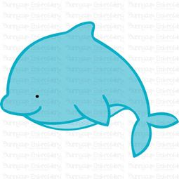 Cute Dolphin SVG