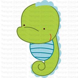 Cute Seahorse SVG