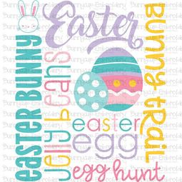 Easter Subway Art SVG