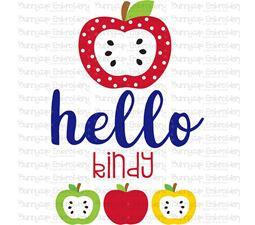 Hello Kindy SVG