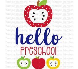 Hello Preschool SVG