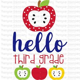 Hello Third Grade SVG
