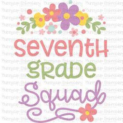Seventh Grade Squad SVG