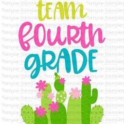 Team Fourth Grade SVG