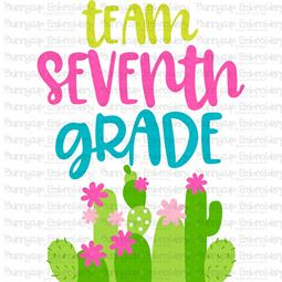 Team Seventh Grade SVG