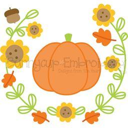 Laurel Pumpkin SVG
