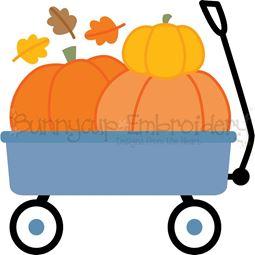Pumpkin Wagon SVG