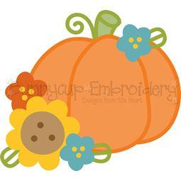 Floral Pumpkin SVG